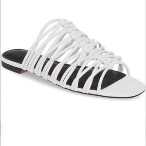 Rebecca Minkoff White Strap Sandals